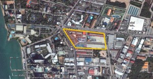 Location map of the new Terminal 21 Shopping Center