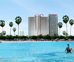 right on the beach and at very central jomtien location. 2 complete luxury flats that can be used as one or separated....