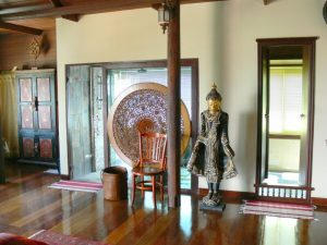 centrally located condo and housing estate. Fitted and decorated in traditional Thai Bali style