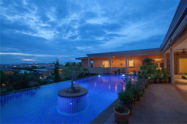 Luxury multi purpose 6 bedroom sea view pool villa at Siam Royal View, above Pattaya, for Sale