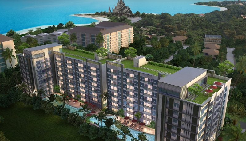 Perched above the shimmering shores of Wong Amat Beach