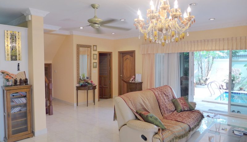 the ground-floor consists of a spacious open living- and dining-area and a bit hidden at the back