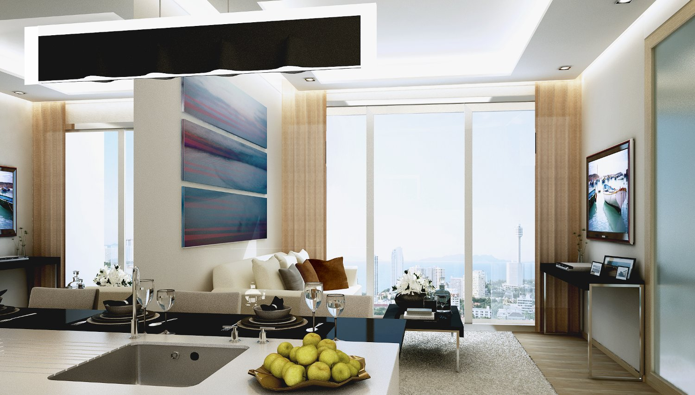 Upmarket 1-bedroom condo on Pattaya's Pratumnak Hill, close to the beach
