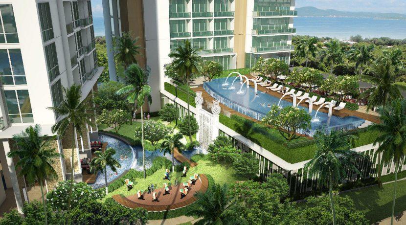 A 1 bedroom condo of 44.5 sqm in one of the finest condominium developments in the Pattaya area
